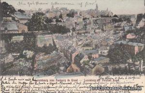 Postcard Luxemburg Vorstadt Grund 1905