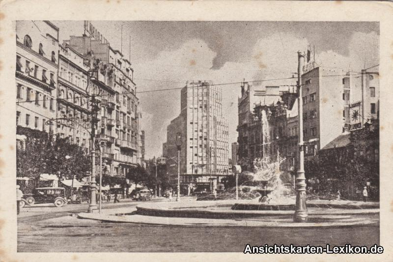 Postcard Belgrad Beograd (Београд) Terazije 1960