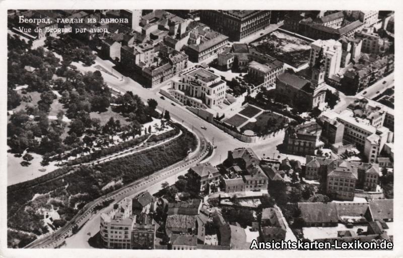 Postcard Belgrad Beograd (Београд) Luftbild 1955