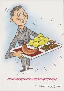 Deutschland Karikatur: DDR Soldatenkantine