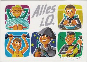 Ansichtskarte Deutschland Karikatur: Alles i. O. 1975
