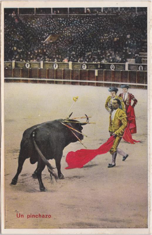 Ansichtskarte  Un pinchazo/Stierkampf 1928