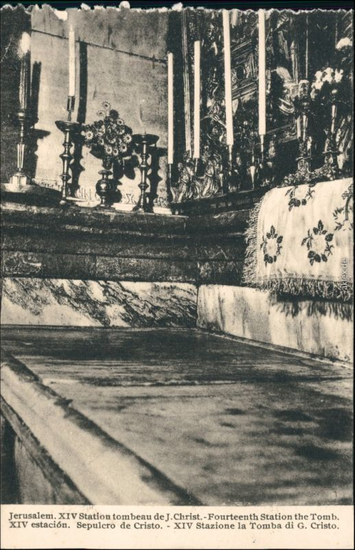 Jerusalem Jeruschalajim (רושלים) Fourteenth Station the Tomb 1918