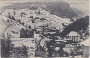 Saint-Pierre-de-Chartreuse Straßenpartie, Hotels im Winter 1950