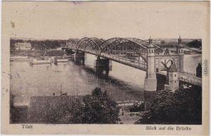 Postcard Tilsit Советск Blick auf die Brücke 1921