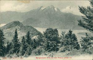 Ansichtskarte Stansstad Bürgenstock (Berg) und Pilatus 1908