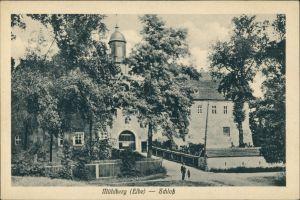 Ansichtskarte Mühlberg/Elbe Miłota Partie am Schloss 1916