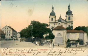 Postcard Mariaschein-Graupen Bohosudov Krupka Straßenpartie 1909