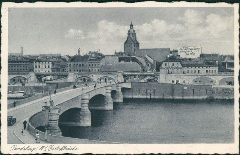 Landsberg (Warthe) Gorzów Wielkopolski Stadt und Likörfabrik 1939