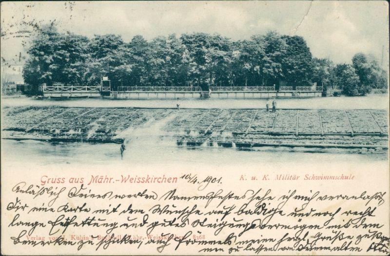 Mährisch Weißkirchen Hranice na Moravě KuK Militär Schwimmschule 1901