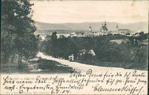 Postcard Mährisch Weißkirchen Hranice na Moravě Weg zur Stadt 1907