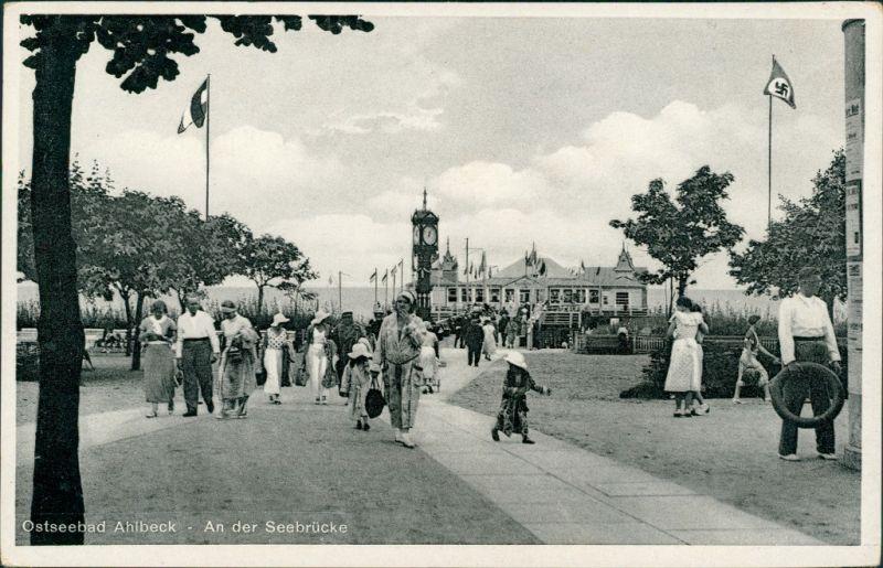 Ansichtskarte Ahlbeck (Usedom) Weg zur Seebrücke 1937