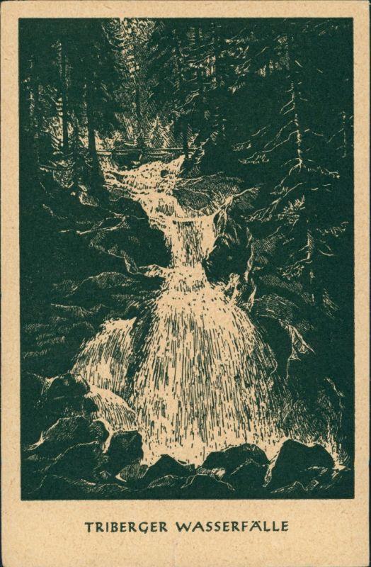 Ansichtskarte Triberg im Schwarzwald Künstleransichtskarte Schwarzwald 1928 0