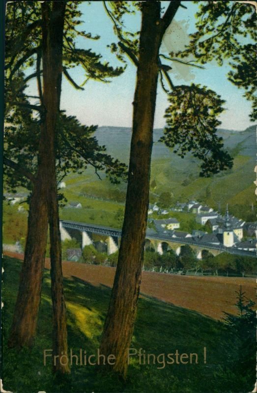 Ansichtskarte Ludwigsstadt Blick auf die Stadt 1918 0