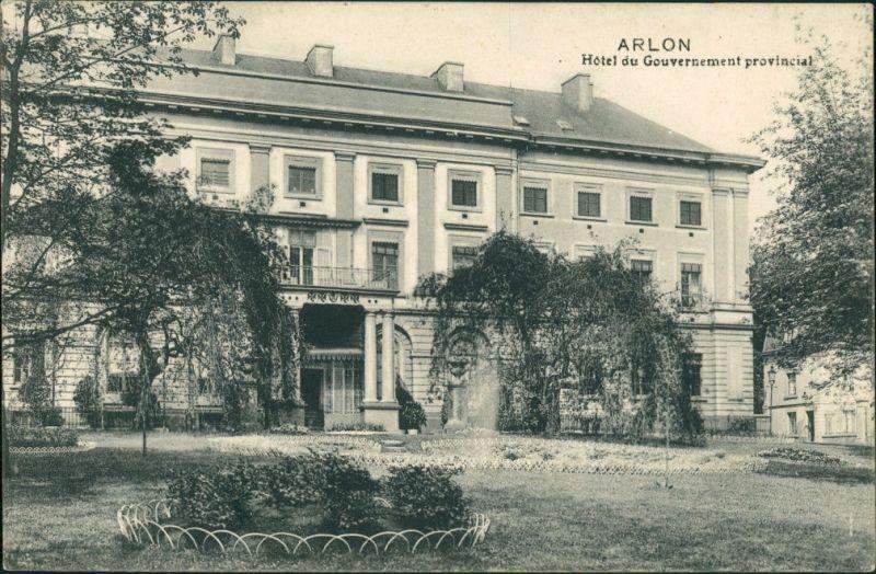 Postkaart Arlon Arlen Hotel du Gouvernment 1914 0