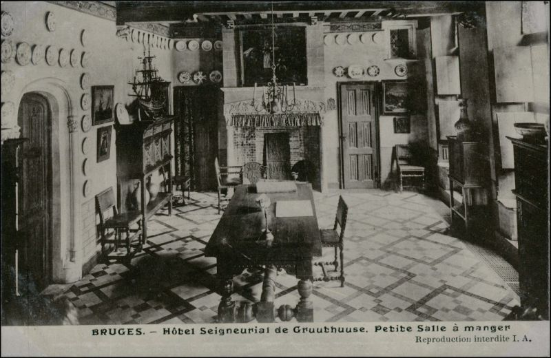 Brügge Brugge | Bruges Hotel Seigneurial de Gruuthuuse - Innen 1911 0