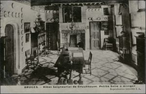 Brügge Brugge | Bruges Hotel Seigneurial de Gruuthuuse - Innen 1911