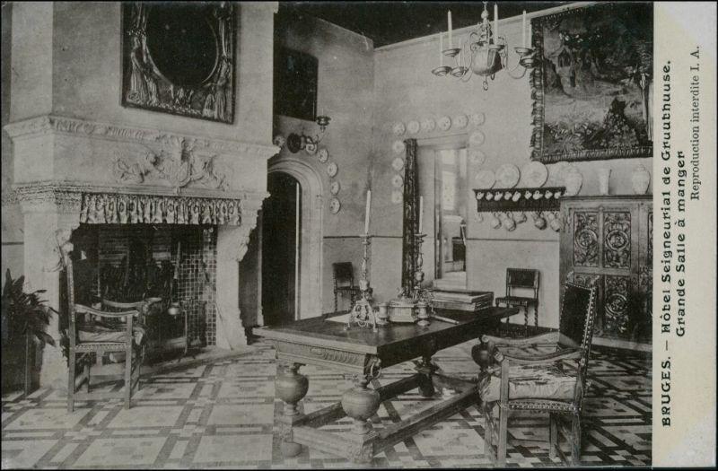 Brügge Brugge | Bruges Hotel Seigneurial de Gruuthuuse Saal 1911 0