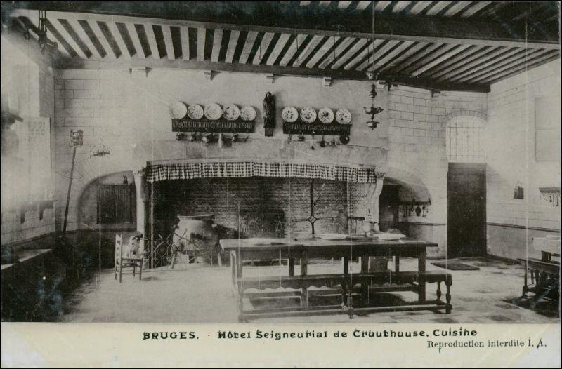 Brügge Brugge | Bruges Hotel Seigneurial de Gruuthuuse cuisine 1911