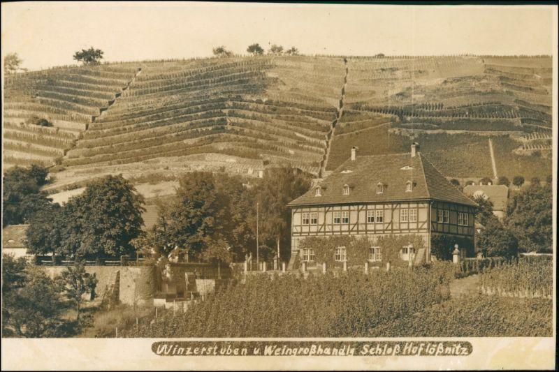Ansichtskarte Oberlößnitz-Radebeul Schloß Hoflößnitz - Fotokarte 1928 0