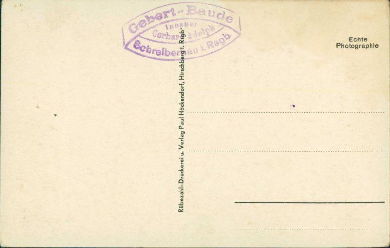 Postcard Schreiberhau Szklarska Poręba 2 Bild: Relief, Gebertbaude 1929 1