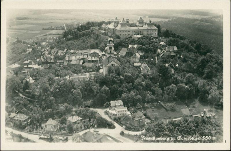 Ansichtskarte Augustusburg Erzgebirge Luftbilde 1938 0