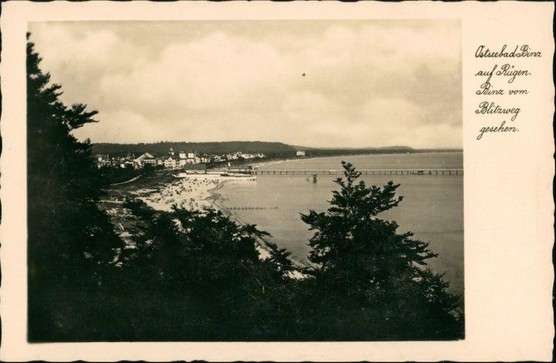 Ansichtskarte Binz (Rügen) Blick auf die Stadt 1939 0