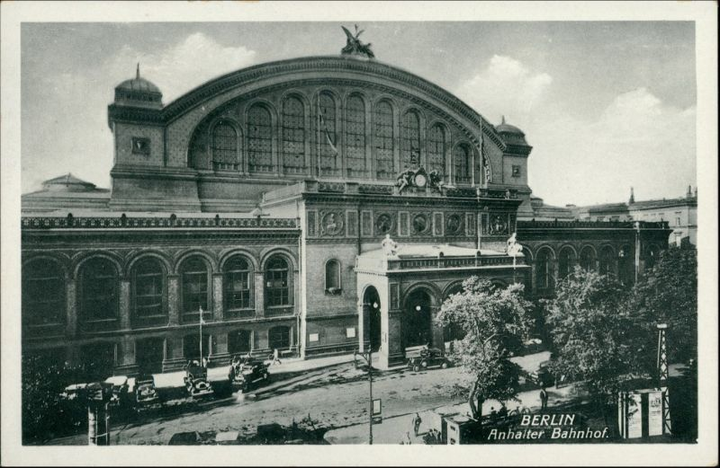 Ansichtskarte Kreuzberg-Berlin Partie am Anhalter Bahnhof 1932 0