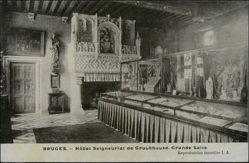 Brügge Brugge | Bruges otel Seigneurial de Gruuthuuse Grand salle 1911