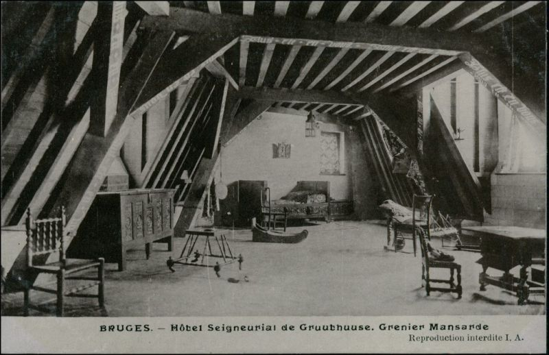 Brügge Brugge | Bruges otel Seigneurial de Gruuthuuse - Mansarde 1911
