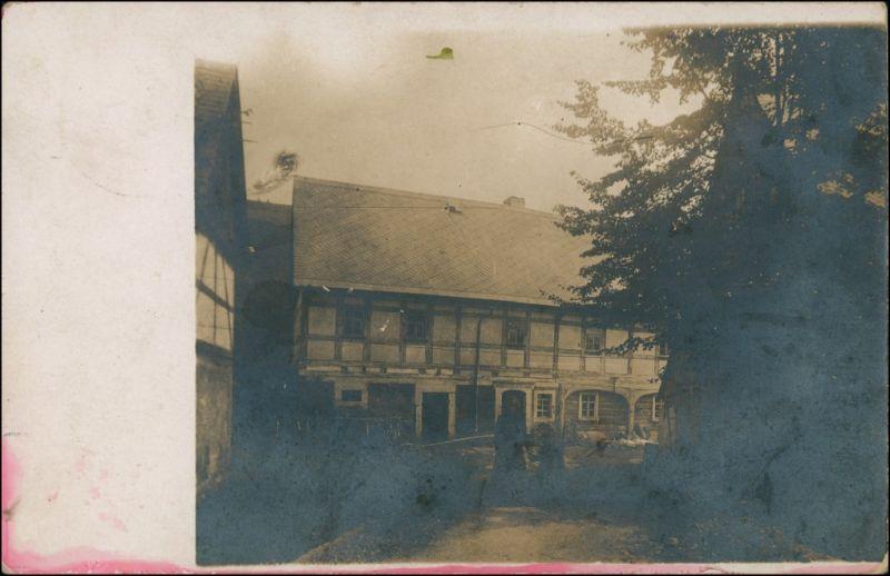Ansichtskarte Saupsdorf-Sebnitz Fachewerkhaus - Privatfoto 1912 0