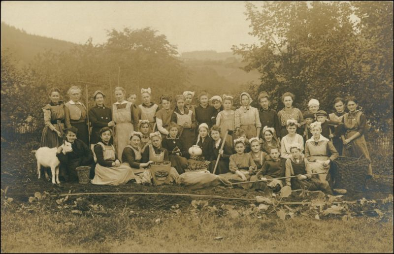 Berufe /Arbeit Bauern Landwirtschaft Privatgruppe Frauengruppe 1909 Privatfoto 0