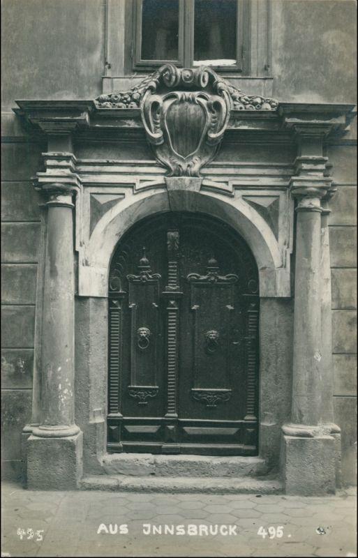 Ansichtskarte Innsbruck Portal - Hausfassade 1909 0