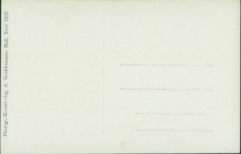 Ansichtskarte Hall in Tirol Solbad Hall Haus - Treppenaufgang - Fotokarte 1909 1
