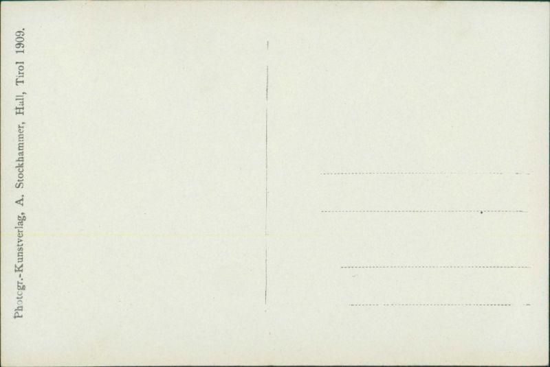 Ansichtskarte Mils bei Hall Holzportal und Tür - Innenansicht 1909 1