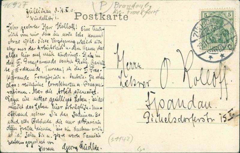 Züllichau Sulechów Seminar und Präparandenanstalt Seidenhof 1910 1