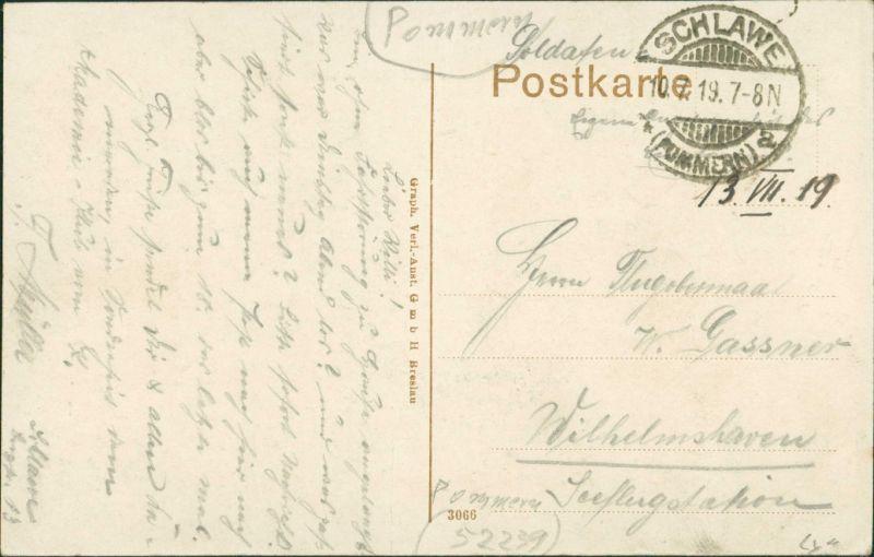 Postcard Schlawe Sławno Am Stolper Tor - Straße 1919 1