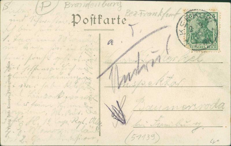 Postcard Kerkow (Neumark) Kierzków 2 Bild: Straße und Gaststätte 1909 1