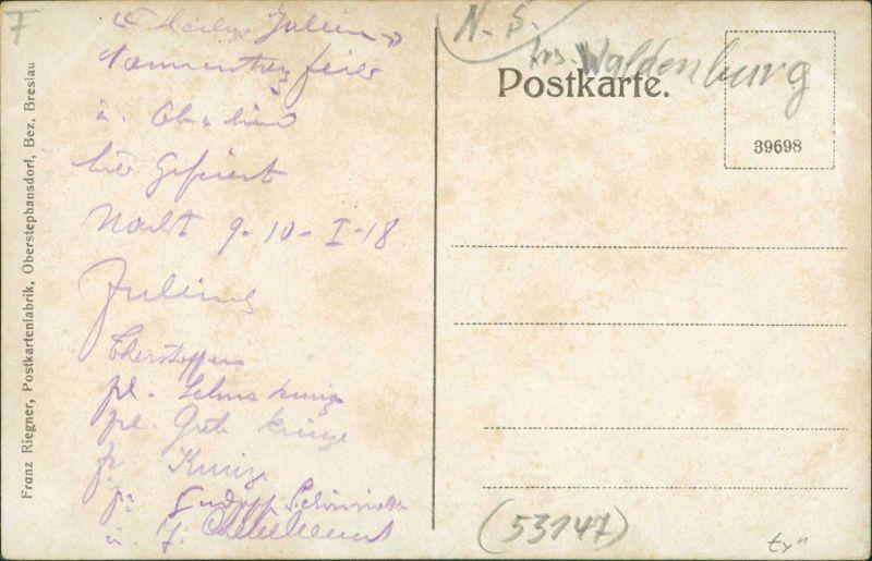 Reimswaldau Rybnica Leśna Gasthaus zum Hornschloss Kr. Sprottau  1915 1