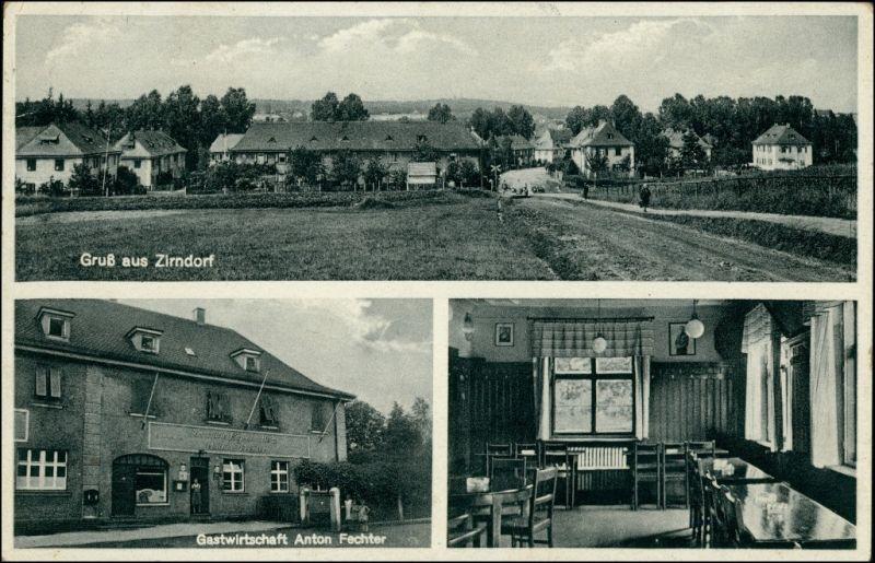 Ansichtskarte Zirndorf Hirtenacker: 3 Bild Gasthaus ua 1939 0