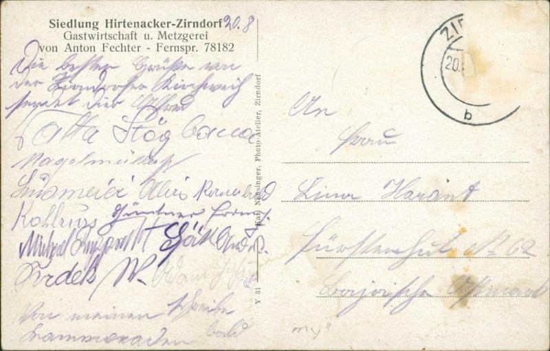Ansichtskarte Zirndorf Hirtenacker: 3 Bild Gasthaus ua 1939 1