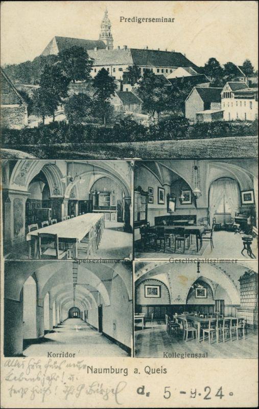 Postcard Naumburg am Queis Nowogrodziec Predigerseminar - MB - Innen 1926 0