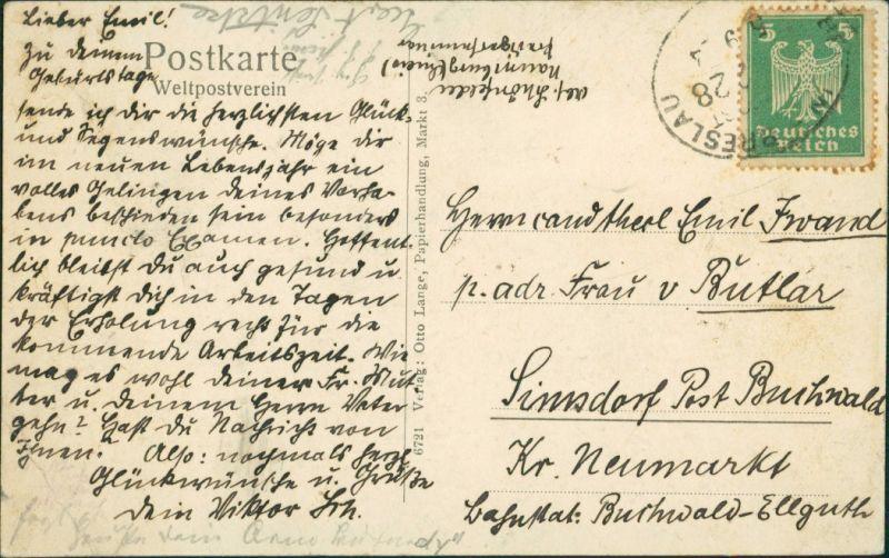 Postcard Naumburg am Queis Nowogrodziec Predigerseminar - MB - Innen 1926 1