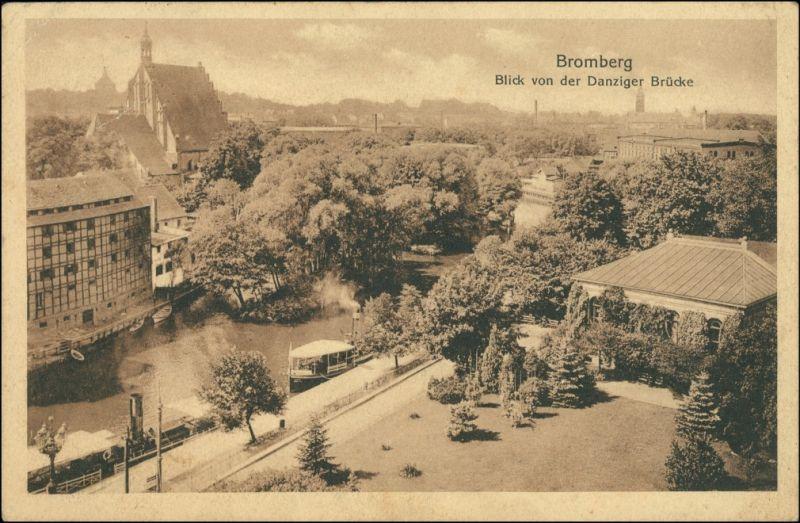 Postcard Bromberg Bydgoszcz von der Danziger Brücke 1915 0