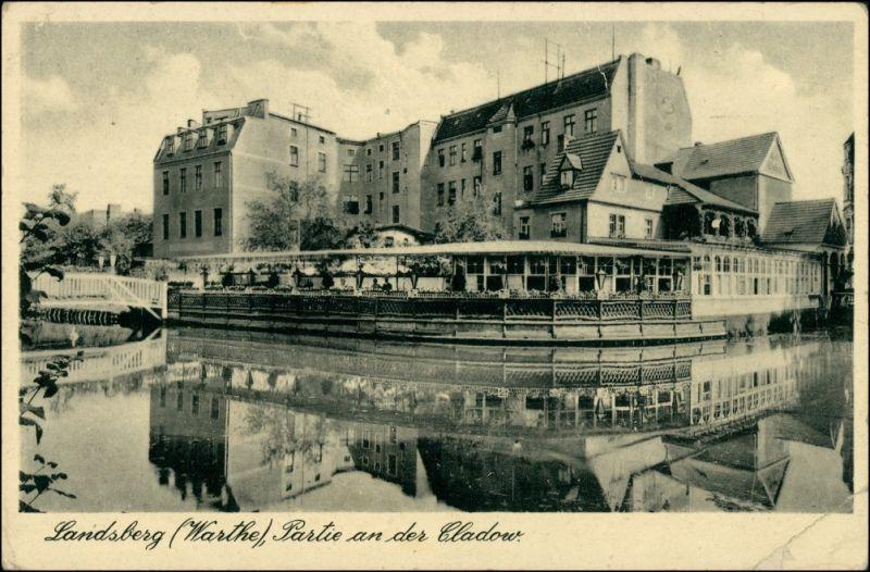 Landsberg (Warthe) Gorzów Wielkopolski An der Cladow - Restaurant 1941 0