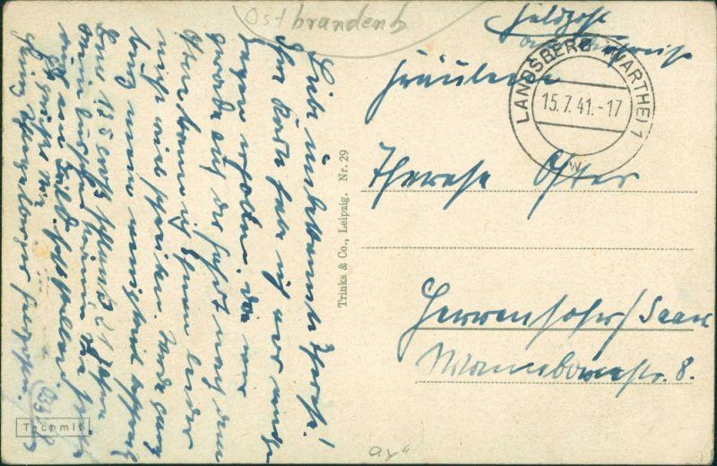 Landsberg (Warthe) Gorzów Wielkopolski An der Cladow - Restaurant 1941 1