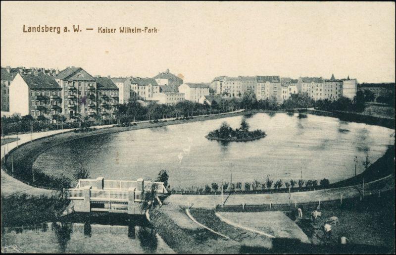 Landsberg (Warthe) Gorzów Wielkopolski Häuser - am Kaiser Wilhelm Park 1917 0