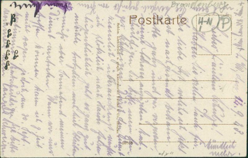 Landsberg (Warthe) Gorzów Wielkopolski Häuser - am Kaiser Wilhelm Park 1917 1