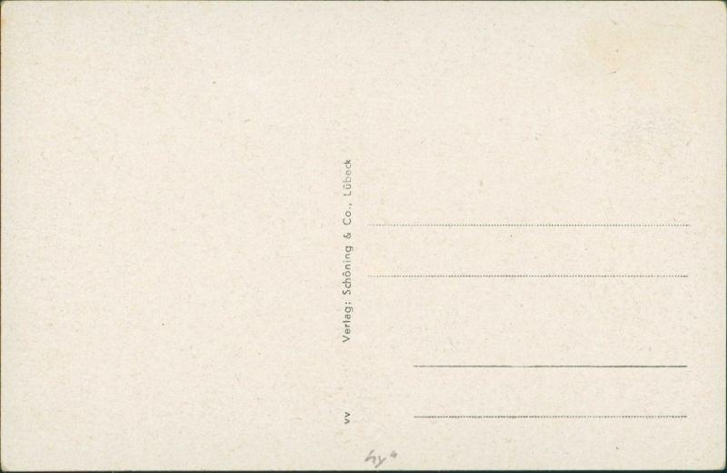 Postcard Stolp Słupsk Straßenpartie - Kaufmannswall 1934 1