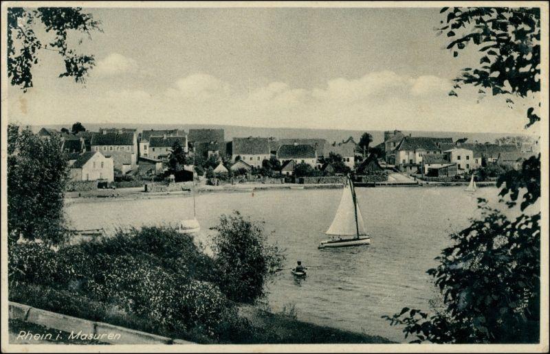 Postcard Rhein, Kreis Lötzen Ryn Blick auf die Stadt 1941 0